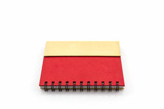 Red diary book on white background. Royalty Free Stock Images