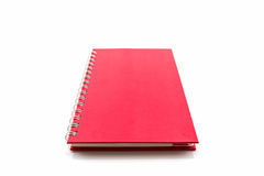 Red diary book on white background. Stock Images
