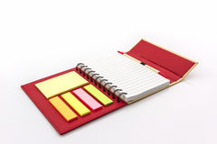 Red diary book on white background. Royalty Free Stock Image