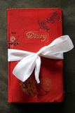 Red Diary Book with White Bow Stock Photography