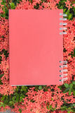 Red diary note Stock Photos