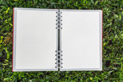 Red diary note open Royalty Free Stock Images