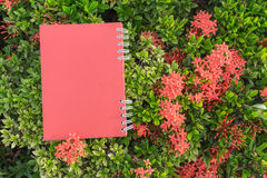 Red diary note Royalty Free Stock Image