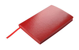 Red diary on a white background Royalty Free Stock Images