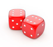 Red dice Royalty Free Stock Photography