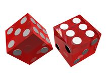 Red dice Royalty Free Stock Image