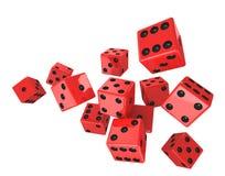 Red dice Stock Photos
