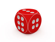 Red dice. Stock Photo