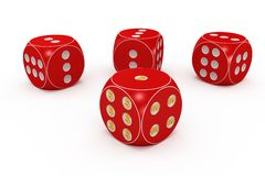 Red dice. Royalty Free Stock Photo