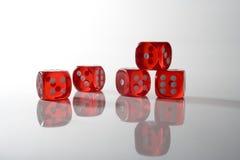 Red dice 2 Stock Photo