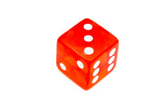 Red dice. Isolated on white background royalty free stock image