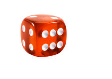 Red dice. Royalty Free Stock Image