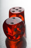 Red Dice. Close up of some Red Dice Royalty Free Stock Image