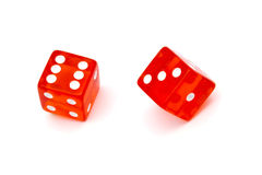 Red dice Stock Photo