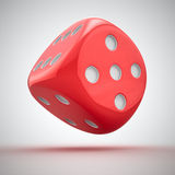 Red dice. One big red dice on the white background royalty free illustration