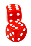 Red Dice. Over a plain white background royalty free stock images