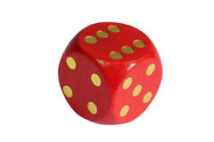 Red dice. Isolated on white background stock photography