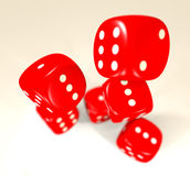 Red dice blur Stock Images