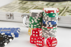 Red Dice Stock Photos