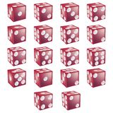 Red Dice with clipping path Royalty Free Stock Images