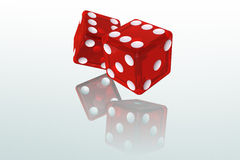 Red Dice. Red Dice 3D Illustration (with clipping path Royalty Free Stock Photography