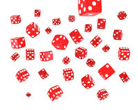 Red Dice Explosion Royalty Free Stock Photography
