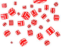 Red Dice Explosion Royalty Free Stock Photos