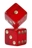 Red Dice Formation Stock Images