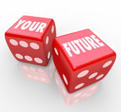 Red Dice - Gambling Your Future Royalty Free Stock Photos