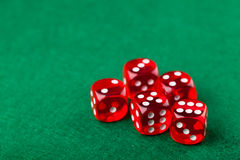 Red dice Stock Images