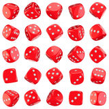 Red dice icons Royalty Free Stock Photography