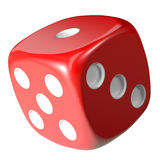 Red dice isolated on white background Stock Image