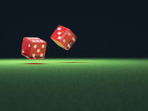 Red Dice In Motion Royalty Free Stock Photos