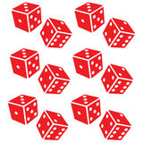 Red dice. Raster Red  #1 Royalty Free Stock Photo