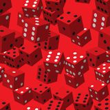 Red Dice Seamless Pattern stock illustration