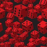 Red Dice Seamless Pattern royalty free illustration