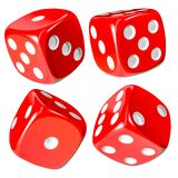 Red Dice Set, Isolated Royalty Free Stock Image