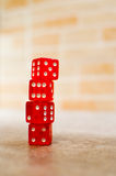 Red dice stack Stock Image