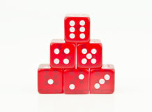 Red dice stacked in order Stock Photography