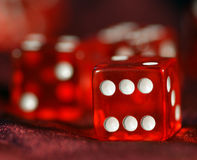 Red Dice to play, play dice. Stock Images