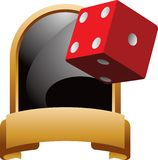 Red dice trophy Royalty Free Stock Images