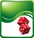 Red dice on wave background Stock Photography