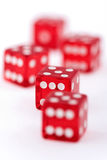 Red dice on white Stock Photo