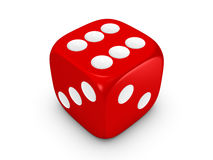 Red dice on white background Royalty Free Stock Images