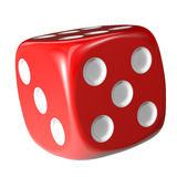 Red dice on white background. Stock Photos