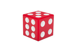 Red dice with white dots isolated Stock Photography
