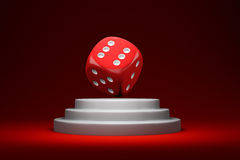 Dice on the podium Royalty Free Stock Photo