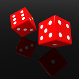 Red dices Royalty Free Stock Image