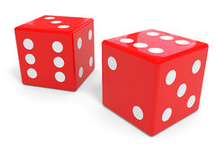 Red dices Stock Photos