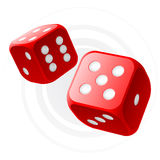 Red dices vector illustration